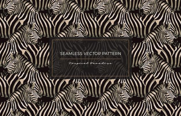 Zebra seamless pattern.