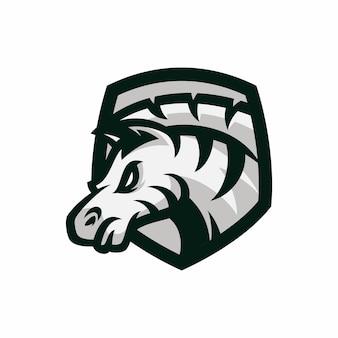 Zebra - vecteur logo / icône illustration mascotte
