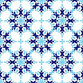 Zellige tile pattern seamless