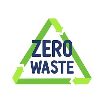 Zéro déchet et signe de recyclage. concept de développement durable.