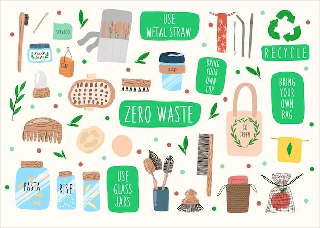 Zero gaspillage. sauvez le concept de planète.