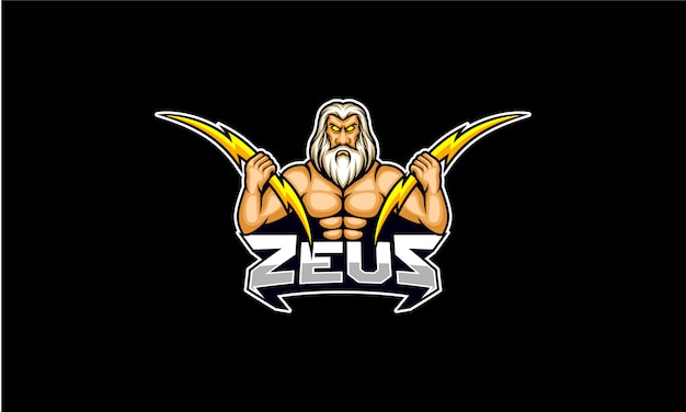 Zeus hold lighting bolt logo esport