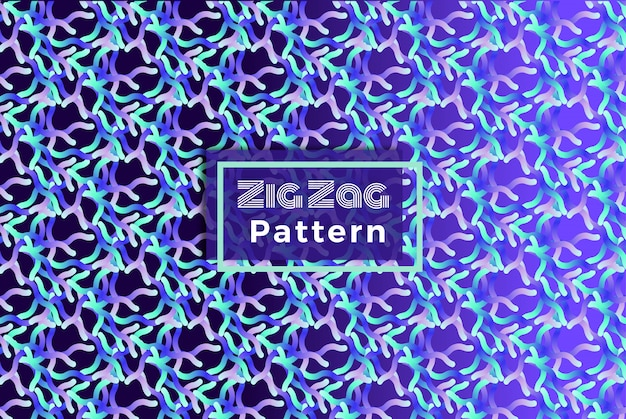 Zig zag colorful vector line pattern de fond