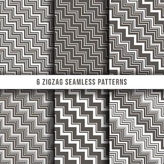 Zigzag diagonal ligne arrière-plans de vecteur de fines rayures sans soudure