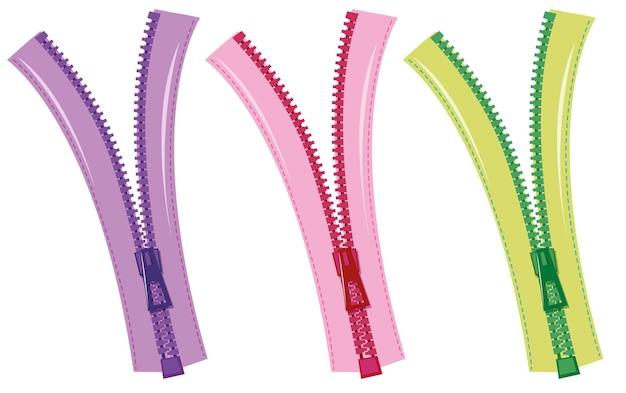 Zips en trois couleurs