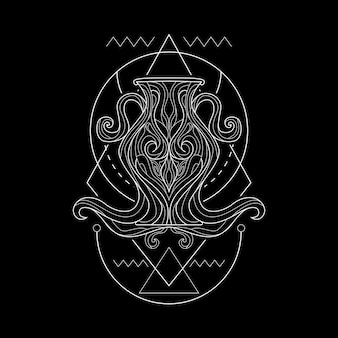 Zodiac aquarius style geometri