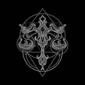 Zodiac balance geometri style