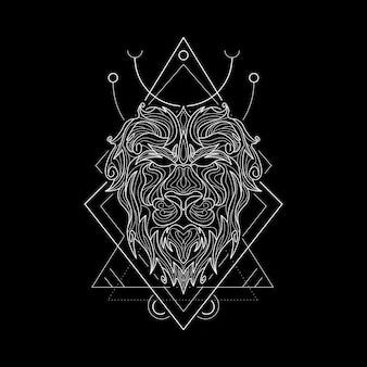 Zodiac leo style geometri