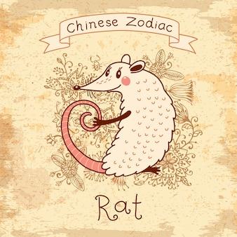 Zodiaque chinois - rat