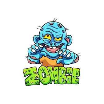 Zombie de dessin animé avec pose drôle
