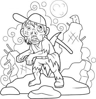 Zombie de dessin animé