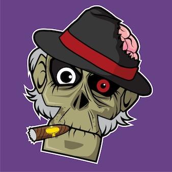 Zombie head - mafia boss