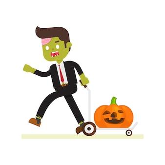Zombie homme d'affaires pour halloween