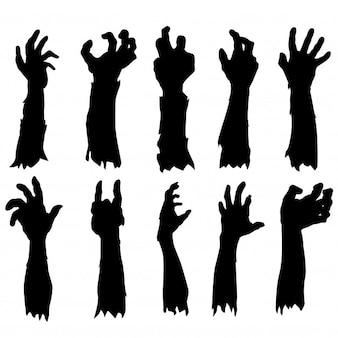 Zombie main silhouette clip art