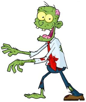 Zombie marchant avec les mains devant
