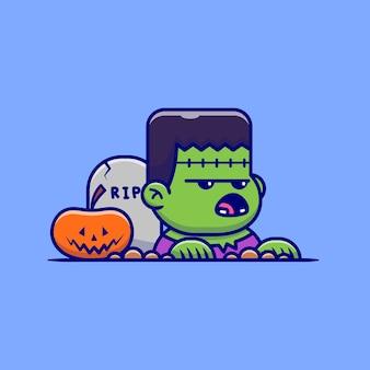 Zombie mignon se lève de la tombe
