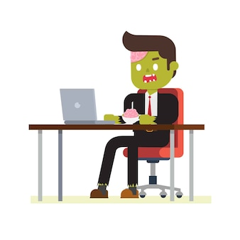 Zombie office entrepreneur
