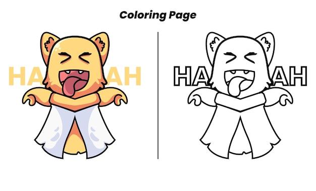 Zombies chat mignon avec des pages à colorier