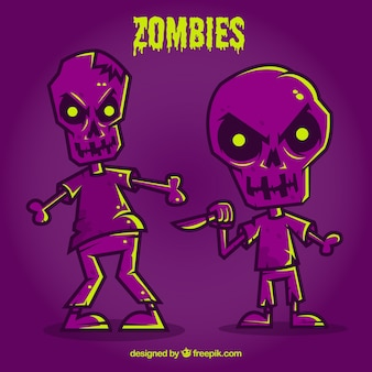 Zombies pourpre halloween