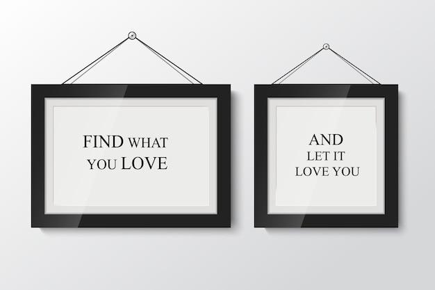 Zone de texte abstrait avec cadre blanc sur fond clair