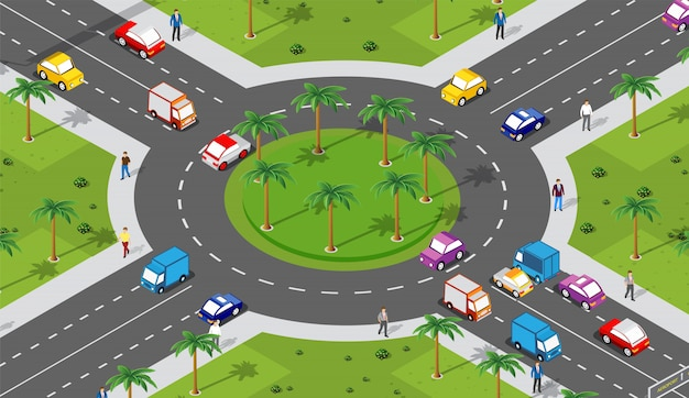 Zone urbaine avec une intersection