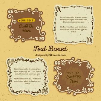 Zones de texte de style boho