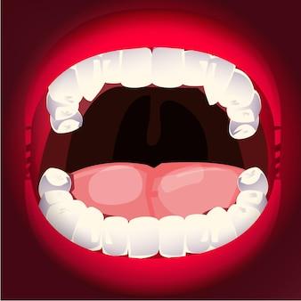 Zoom sur la bouche