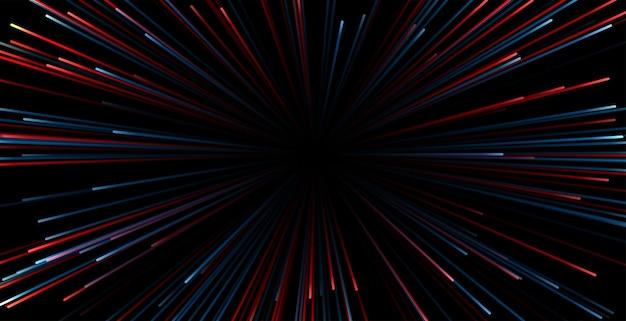 Zoom fond de vitesse des rayons lumineux