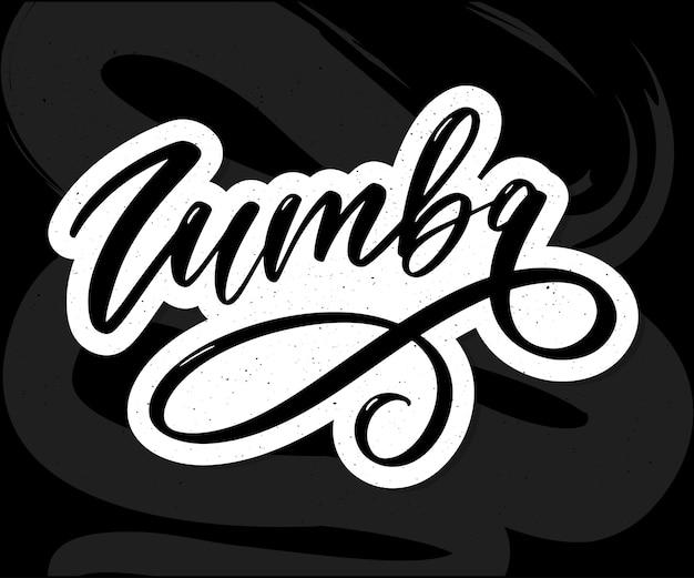 Zumba lettrage calligraphie