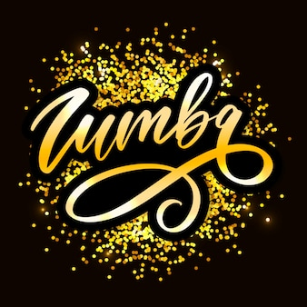 Zumba lettre lettrage calligraphie danse vecteur brosse