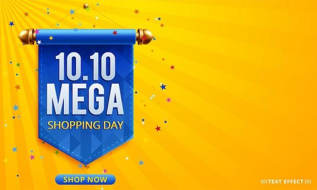 10.10 banner de venta de día de compras en línea