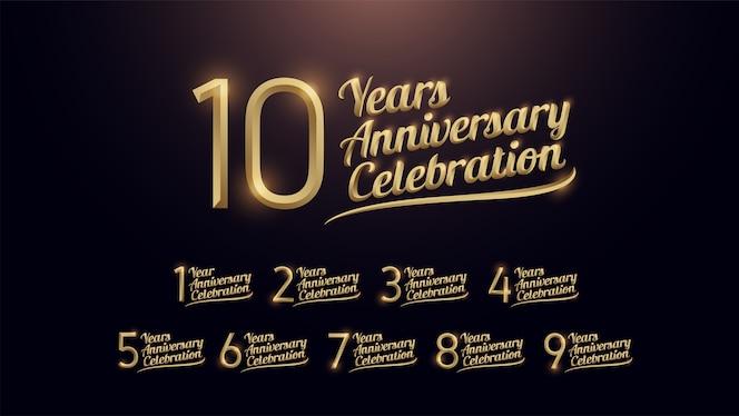 10 años de celebración de aniversario
