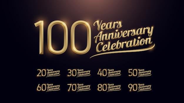 100 años de celebración de aniversario