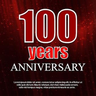 100 años de vector de insignia de celebraciones