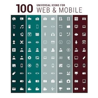 100 iconos de web