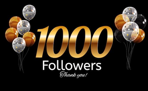 1000 seguidores. gracias antecedentes