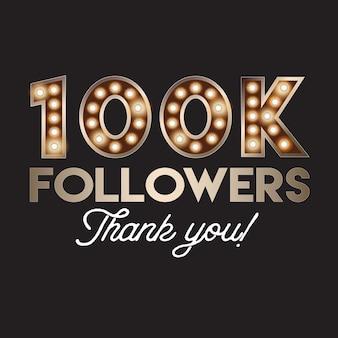 100k seguidores gracias banner
