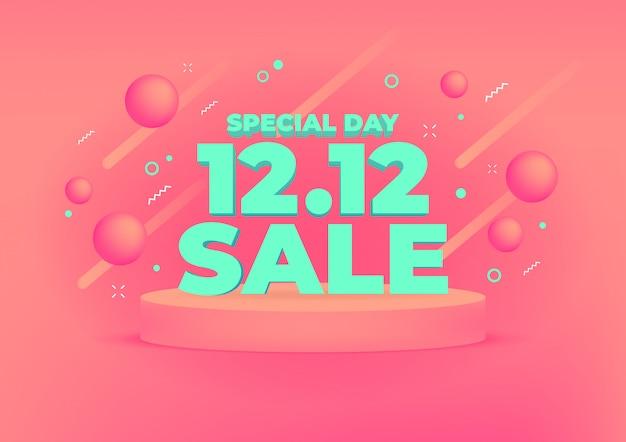 12.12 fondo de banner de venta de día de compras.