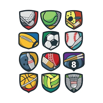 12 deporte logo vector illustration