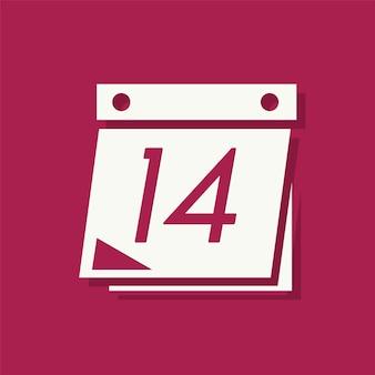 14 de febrero icono del día de san valentín