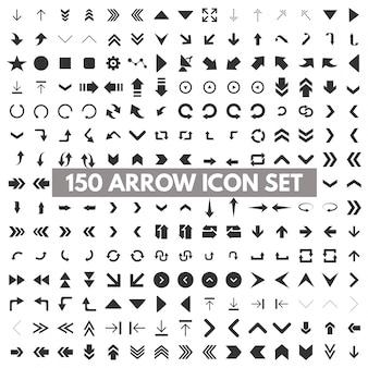 150 iconos de flechas