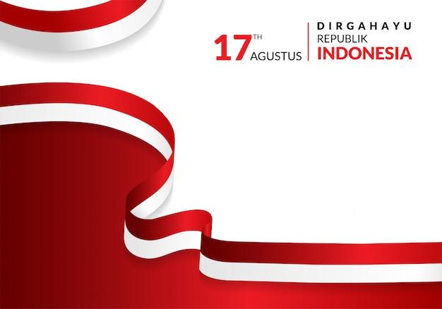17 de agosto. tarjeta de felicitación del feliz día de la independencia de indonesia