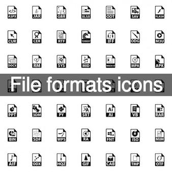 176 formatos de archivo iconos