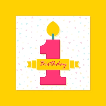 1er cumpleaños banner design