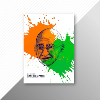 2 de octubre diseño de plantilla de cartel o folleto de gandhi jayanti