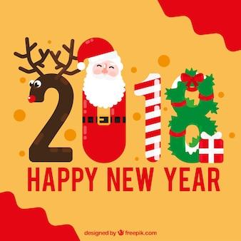 2018 en forma de atributos navideños