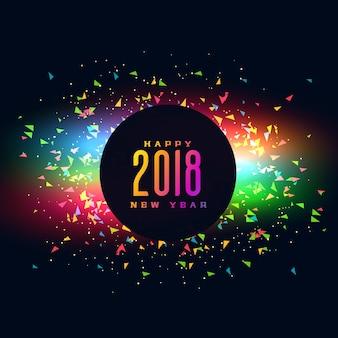 2018 feliz año nuevo fondo de fiesta colroful diseño