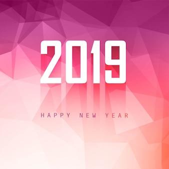 2019 feliz año nuevo fondo diseño creativo vector
