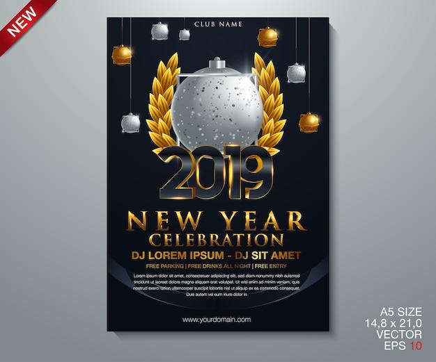 2019 feliz año nuevo fondo