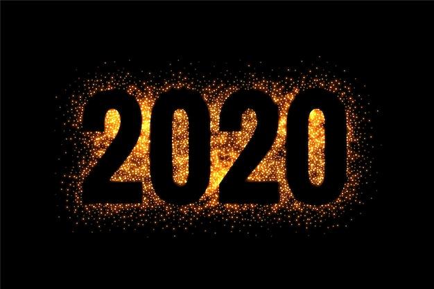 2020 año nuevo en estilo brillo y brillo
